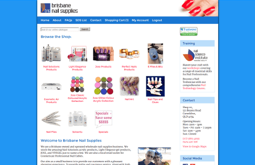 Thumbnail of Brisbane Nail Supplies New Website